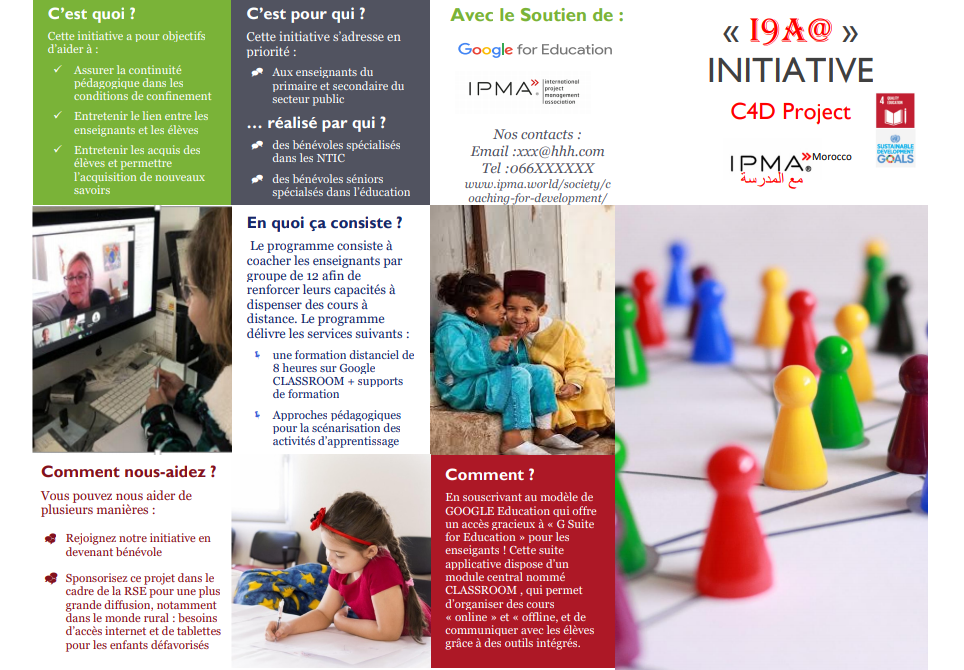 Ipma Best Practices C4d Project For Morrocan Schools During Covid Quarantine Ipma International Project Management Association